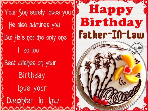 Imgenes De Birthday Wishes For Father From Daughter In Law