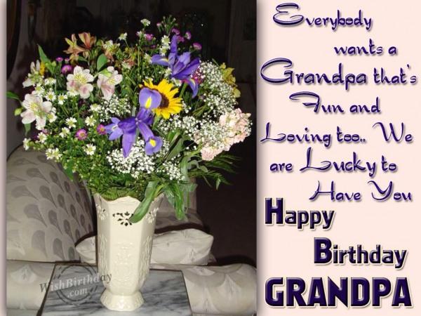 Happy Birthday Loving Grandpa