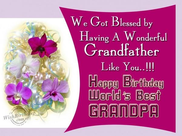 Happy Birthday World's Best Grandfather