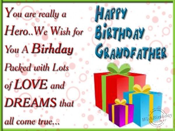 Wishing You A Very Happy Birthday Dear Grandfather - WishBirthday.com