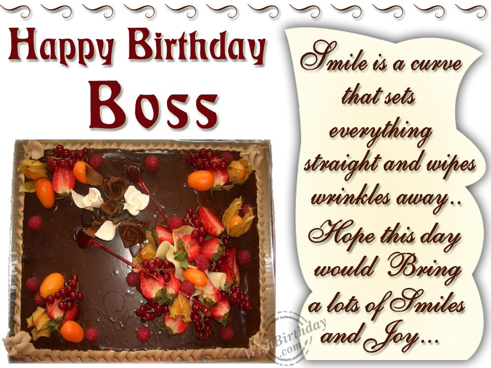 Birthday Wishes For Boss Quotes. QuotesGram