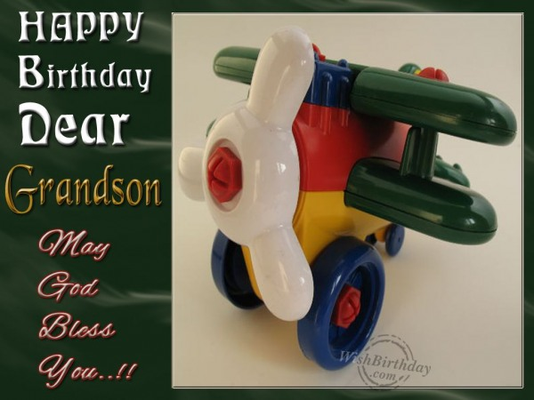 Wishing Happy Birthday To Dearest Grandson - WishBirthday.com