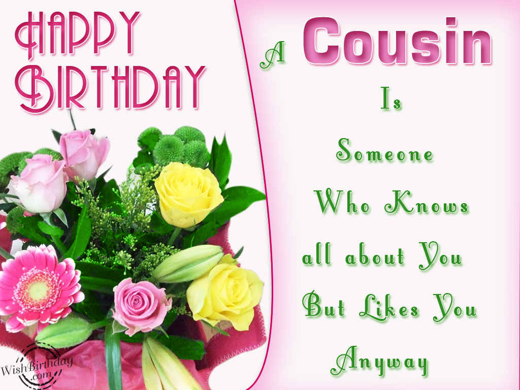 Happy Birthday To A Lovely Cousin WishBirthday – Happy Birthday Cousin Card