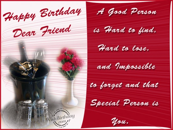 happy birthday letter to a special friend happy birthday to a special person wishbirthday 18431