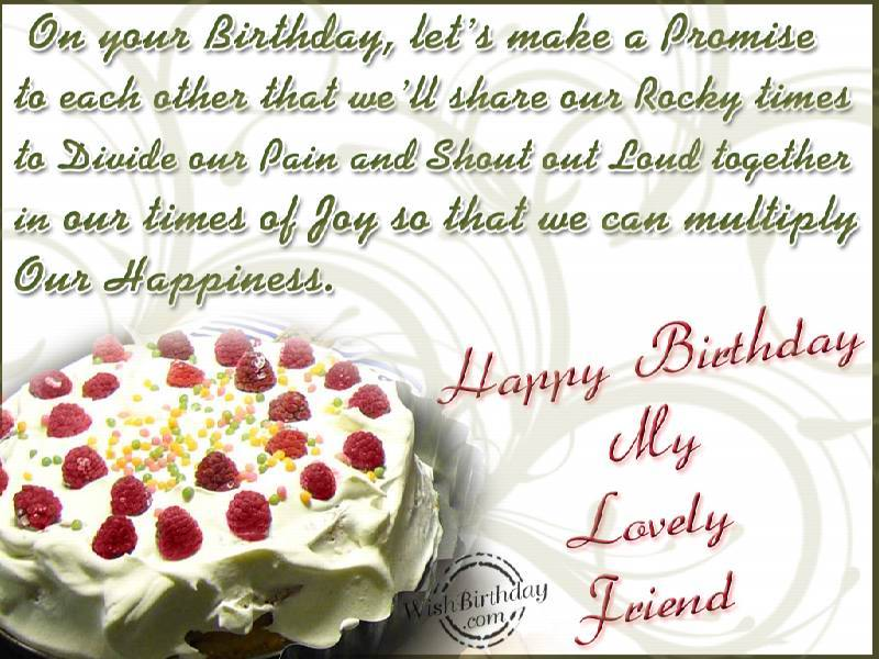 Birthday wishes for friend birthday images pictures happy birthday my lovely friend m4hsunfo Images