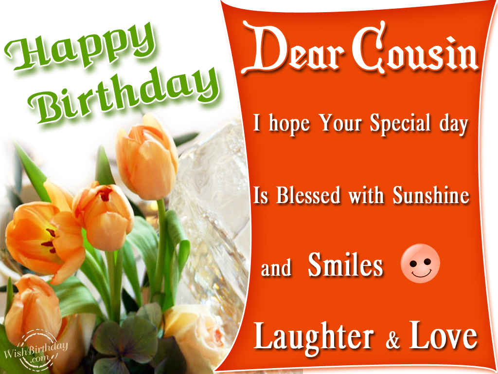 Happy Birthday To A Dear Cousin Wishbirthday Com Happy Birthday Wishes Cousin