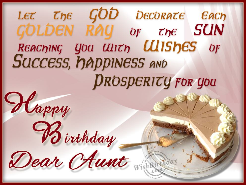 Birthday wishes for aunt birthday images pictures wishing you happy birthday dear aunt m4hsunfo