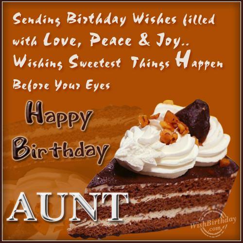 Happy Birthday Loving Aunt