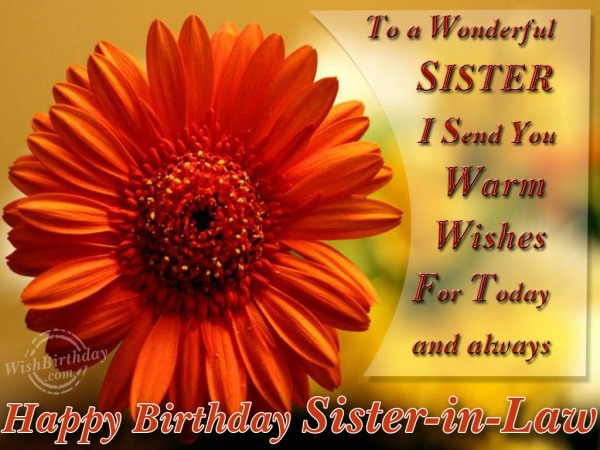To A Wonderful Sister-in-law