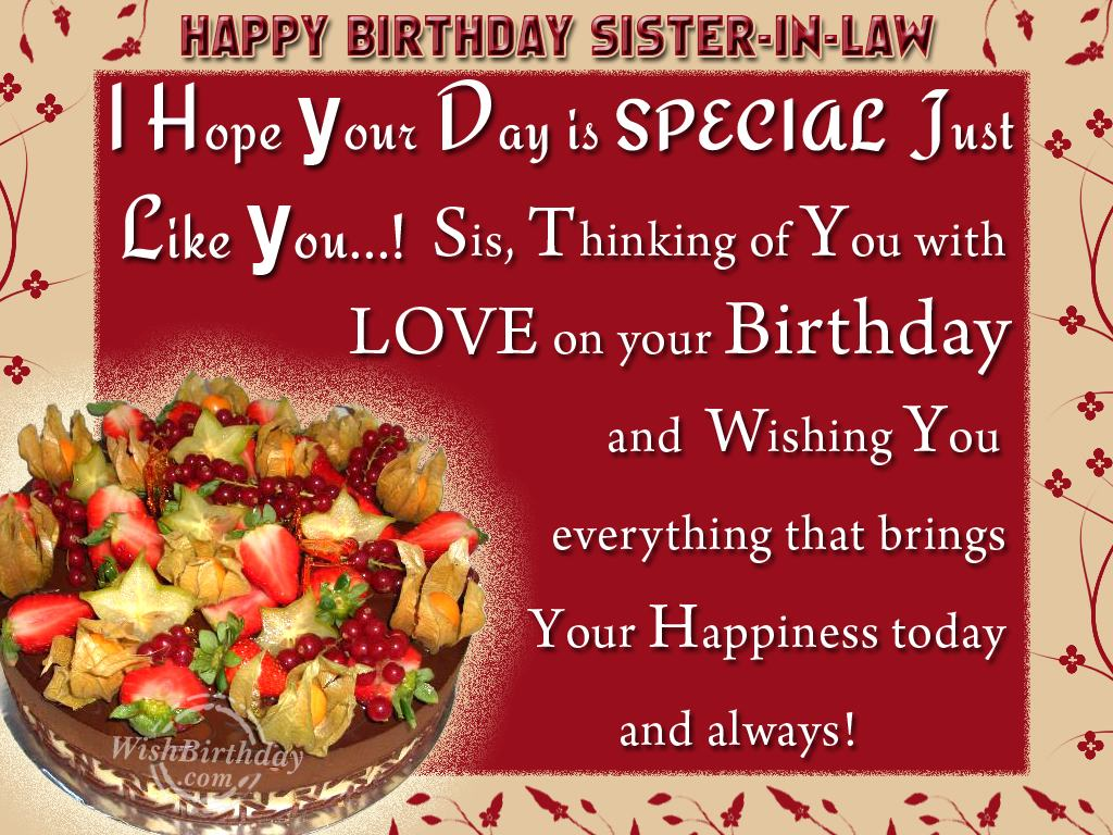 Birthday Wishes For Sister In Law Birthday Images Pictures – Happy Birthday Greetings Sister