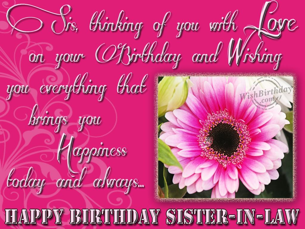 Wishing Happy Birthday Sweet Sister Law