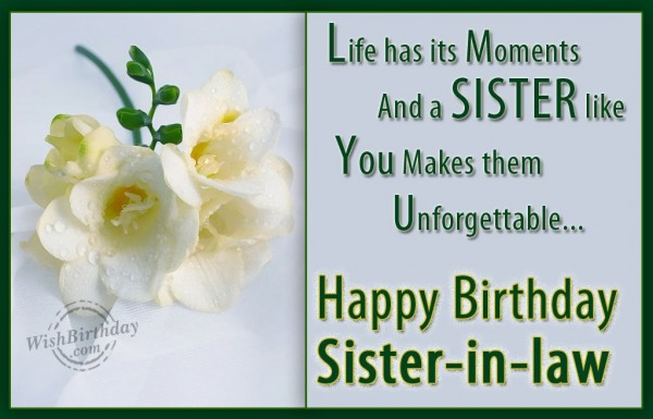 Happy Birthday Dear Sister-in-law
