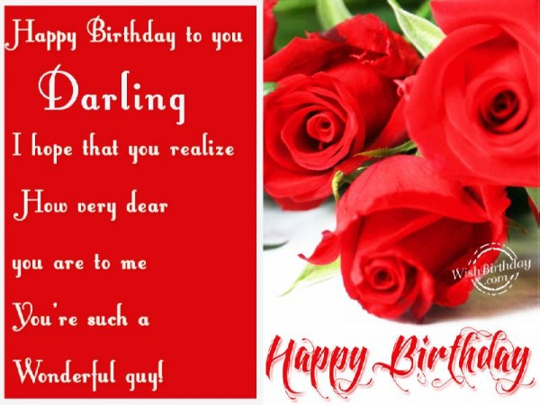 Happy Birthday To You Darling