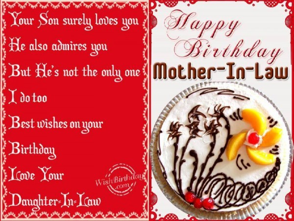 Birthday Wishes To Mother-in-law From Daughter-in-law