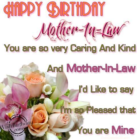 Birthday wishes for mother in law birthday images pictures happy birthday to a caring mother in law m4hsunfo