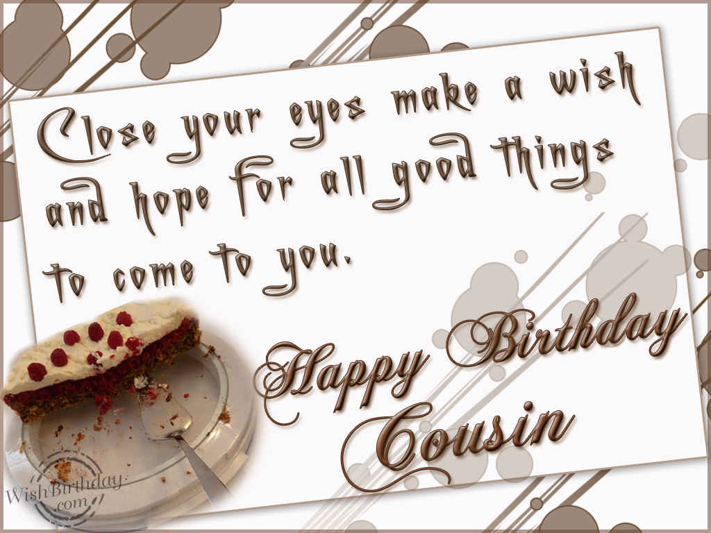 Happy Birthday To A Sweet Cousin Wishbirthday Com Happy Birthday Wishes Cousin