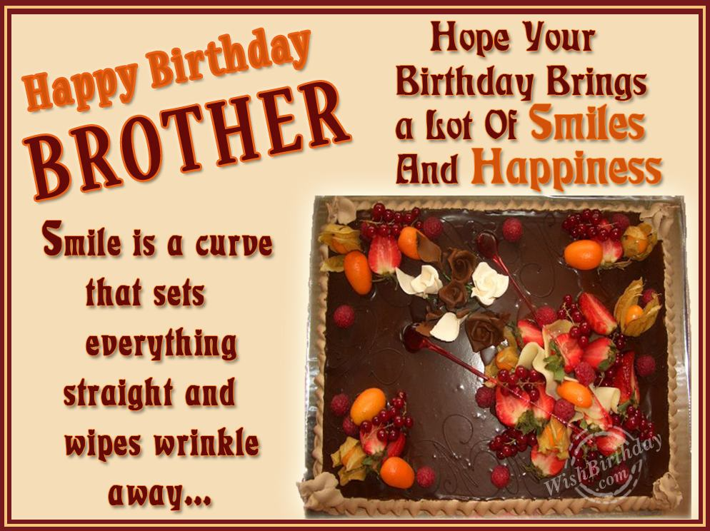 Happy Birthday My Wonderful Brother WishBirthday – Birthday Card for My Brother