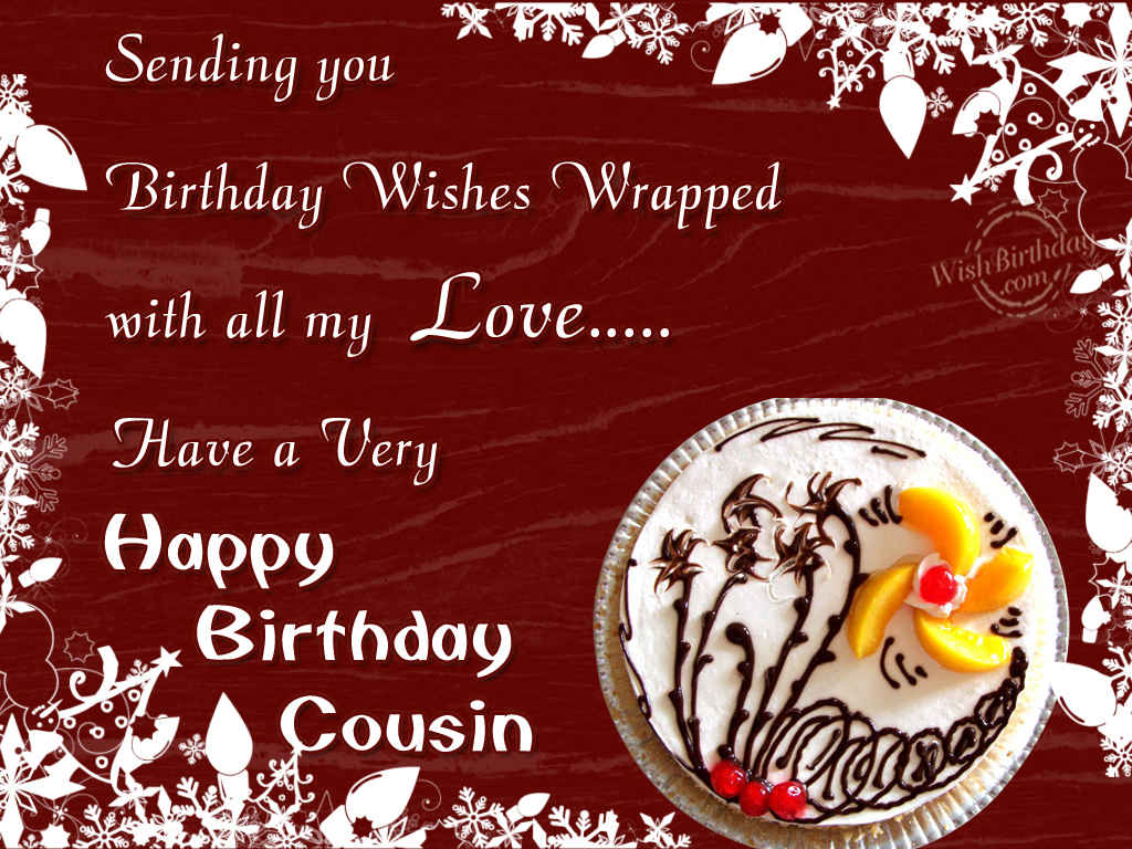 Birthday Wishes For Cousins ~ Birthday wishes for cousin wishbirthday