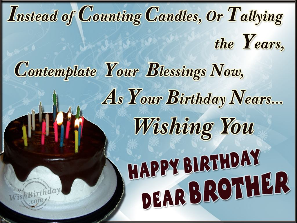 Birthday Wishes For Brother Birthday Images Pictures – Birthday Greeting to Brother