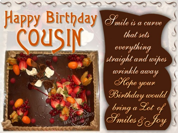 Wishing Happy Birthday To Dearest Cousin