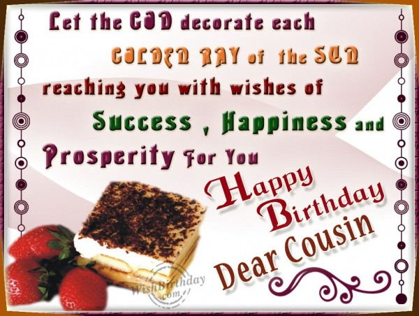Wishing You Happy Birthday Loveable Cousin