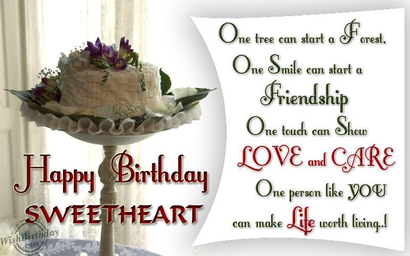 Wishing happy birthday to my sweetheart wishbirthday wishing happy birthday to my sweetheart altavistaventures Choice Image