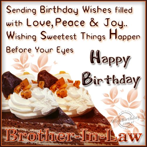 wishing happy birthday to caring brother in law