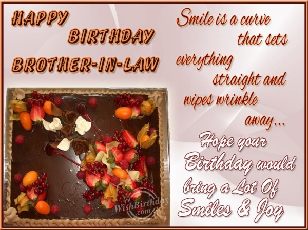 Wishing Happy Birthday To Dear Brother-in-law