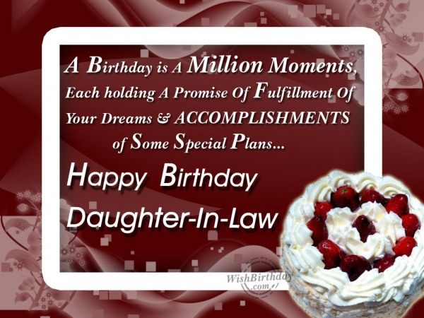 May God Bless You My Daughter-in-law - WishBirthday.com