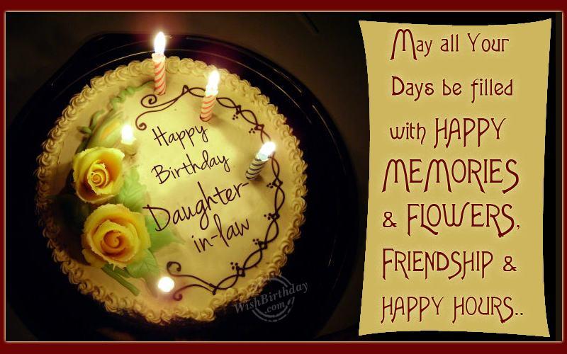 Happy Birthday Loving Daughter In Law Wishbirthday Com