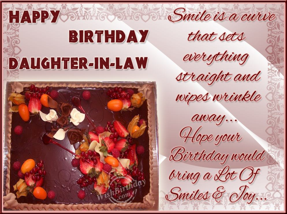 Happy Birthday To Caring Daughterinlaw WishBirthday – Happy Birthday Daughter in Law Cards