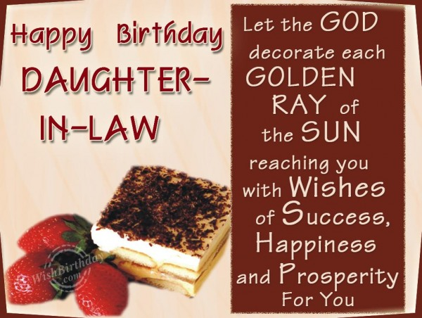 Happy Birthday Dear Daughter-in-law - WishBirthday.com