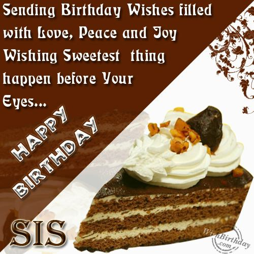 Happy Birthday My Loving Sister