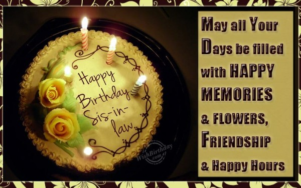 Happy Birthday My Wonderful Sister-in-law