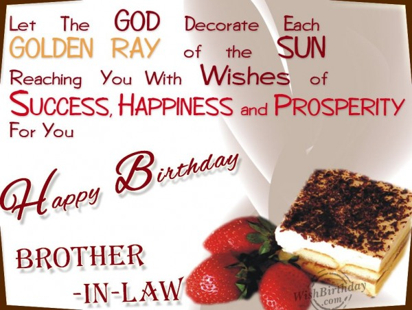 Wishing Happy Birthday To Caring Brother-in-law