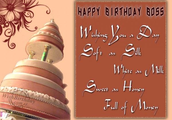 Wishing You Happy Birthday Boss
