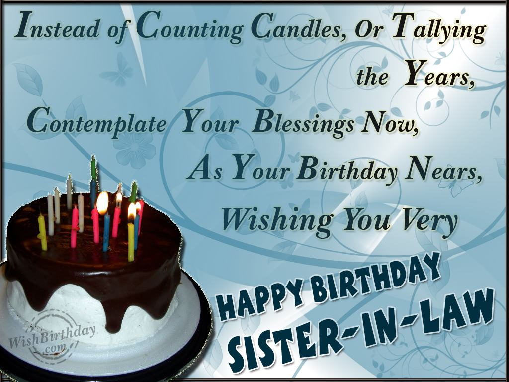 Happy Birthday Sister In Law Quotes. QuotesGram