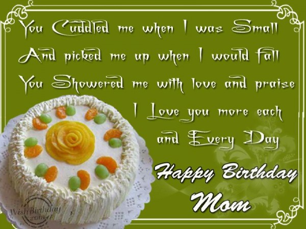 Happy Birthday Loving Mom - WishBirthday.com