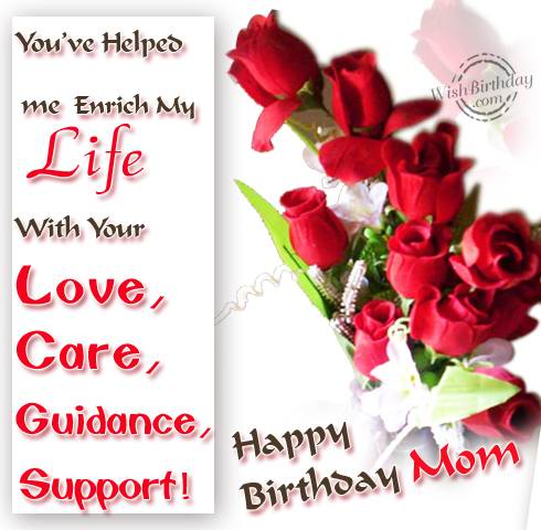 Birthday wishes for mother birthday images pictures you enrich my life with lovecaresupport m4hsunfo