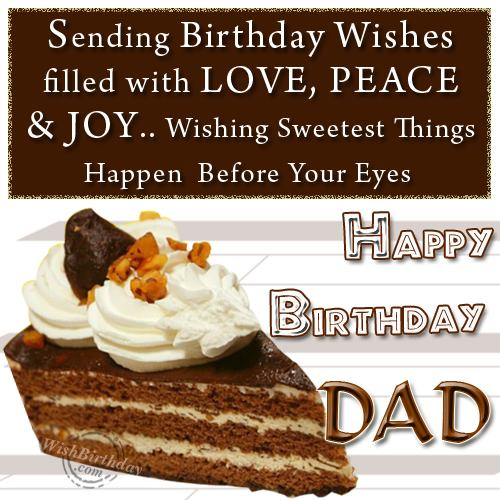 Birthday Wishes For Father Health ~ Wishing you happy birhday dear dad wishbirthday