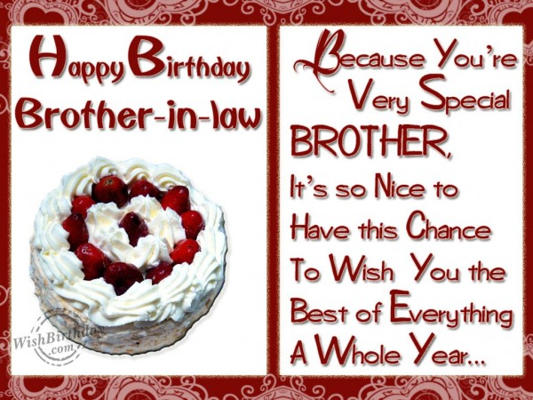Happy birthday to a special brother-in-law
