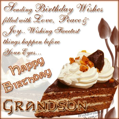 Happy Birthday My Dear Grandson - WishBirthday.com