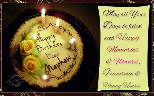 Wishing Happy Birthday To A Sweet Nephew
