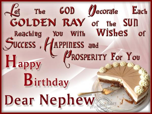 Wishing Happy Birthday To My Dearest Nephew