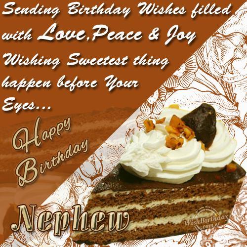 Wishing you happy birthday my wonderful nephew wishbirthday wishing you happy birthday my wonderful nephew m4hsunfo
