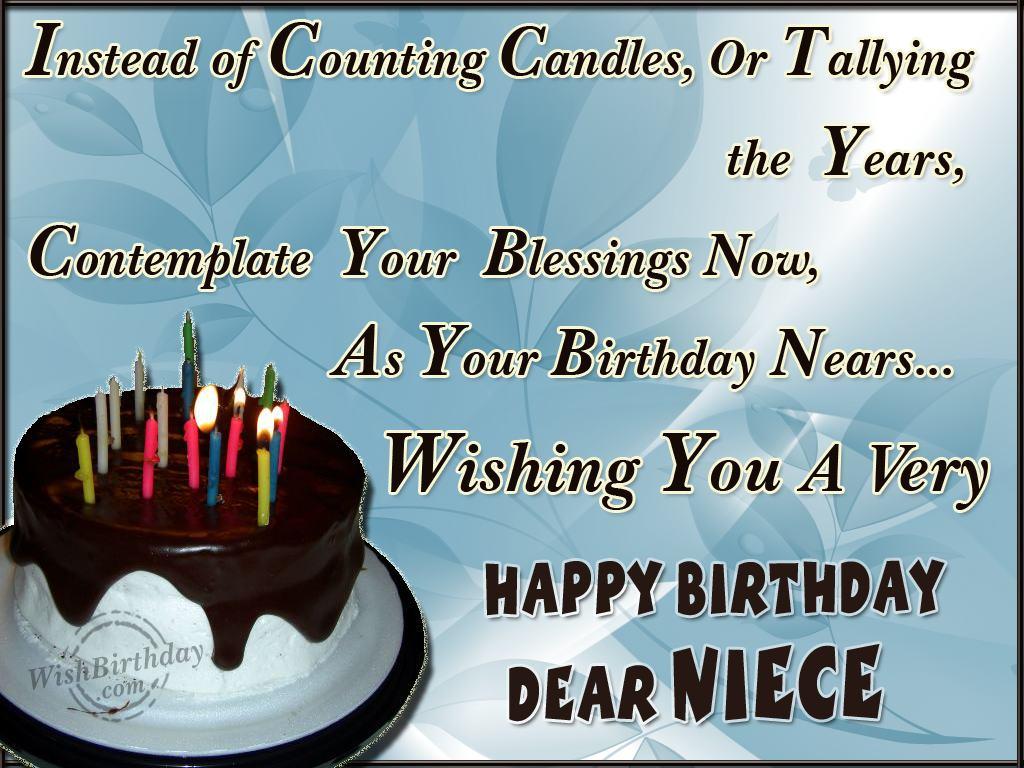 Wishing Happy Birthday To A Caring Niece Wishbirthday Com Happy Birthday Wishes Niece