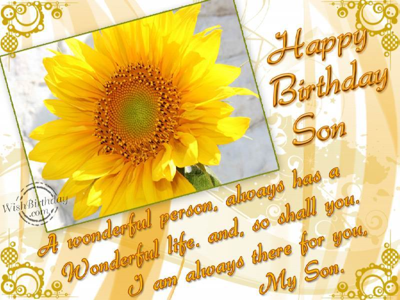 Birthday Wishes For Step Son Birthday Images Pictures – Birthday Card for My Son