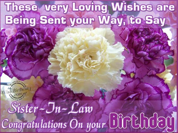 Congratulations On Your Birthday Sister-in-law