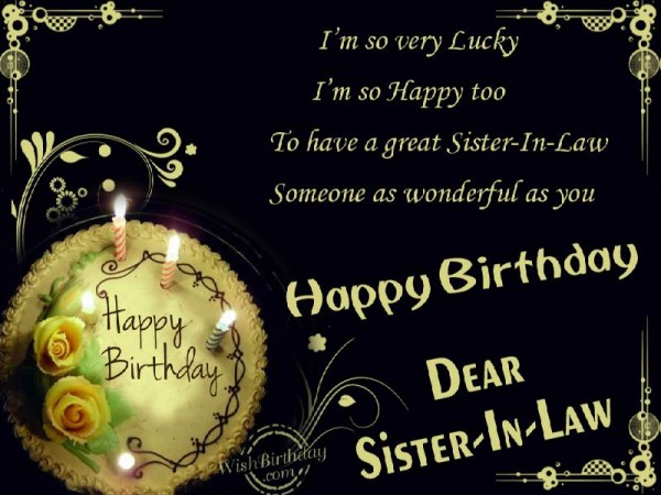 Happy Birthday Dear Sister-in-law - WishBirthday.com