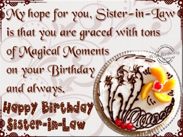 Happy Birthday My Dear Sister-in-law